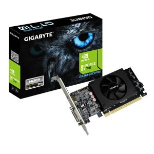 Gigabyte Ultra Durable 2 GV-N710D5-2GL GeForce GT 710 Graphic Card - 954 MHz Core - 2 GB GDDR5 - Low-profile - 64 bit Bus Width - Fan Cooler - OpenGL 4.5, DirectX 12 - 1 x HDMI - 1 x Total Number of D