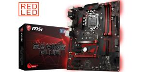 MSI Z370 Gaming Plus ATX LGA1151 DDR4 2PCI-E16 4PCI-E1 VGA DVI DP CrossFireX Motherboard