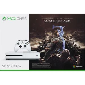 Microsoft Corporation Microsoft Xbox One S - Shadow of War Bundle - Game console - 4K - HDR - 500 GB HDD - Robot white ZQ9-00156