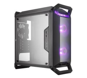 Cooler Master MasterBox Q300P Micro-ATX Mini Tower PC Case - Modular I/O Panel - Transparent Side Panel - Adjustable Mounting Positions - 2x 120mm RGB Front Fans - 1x 120mm Rear Fan - 4x Removable Han