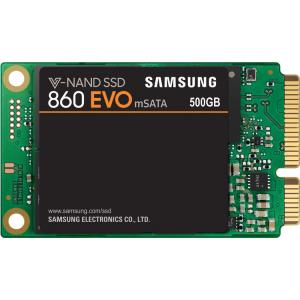 Samsung 860 EVO 500 GB Solid State Drive - SATA (SATA/600) - Internal - mSATA - 550 MB/s Maximum Read Transfer Rate MZ-M6E500BW