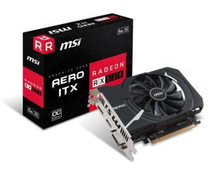 MSI Radeon RX 560 AERO ITX 4G OC Video Card - 4GB 128-bit GDDR5 - PCI Express 3.0 x16 - 1196MHz Boost Core Clock - PCI-E Bus Powered - AMD FreeSync - DisplayPort - HDMI - DL-DVI-D (RX 560 AERO ITX 4G