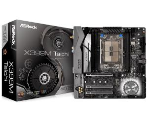 ASRock X399M Taichi ATX Motherboard - Socket TR4 - AMD X399 Chipset - Supports DDR4-3600+(OC) - 3x PCIe 3.0 x16 - 3x M.2 Socket3 - USB 3.1 Gen2 Type-A+C - 1x U.2 Connector - Dual Intel GbE LAN - Intel