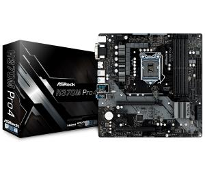 ASRock H370M Pro4 Micro ATX Motherboard - Socket LGA 1151 - Intel H370 Chipset - Supports DDR4-2666 - 2x PCIe 3.0 x16 - 2x PCIe 3.0 x1 - 1x M.2 Key E for WiFi - CrossFireX Ready - 2x M.2 Socket3 - HDM