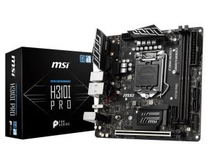 Msi H310i Pro Desktop Motherboard - Intel H310 - Socket 1151 - Max.32gb Ddr4 - Dvi - Displayport - Sata - Pcie - Mitx