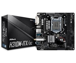 ASRock H310M-ITX/ac Mini-ITX Motherboard - Socket LGA 1151 - Intel H310 Chipset - Supports DDR4-2666 - 1x PCIe 3.0 x16 - 1x M.2 Socket3 - DVI-I - DisplayPort - HDMI - USB 3.1 Gen1 Type-A - Intel GbE L
