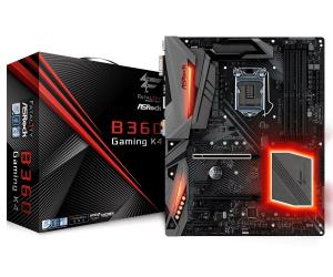 ASRock Fatal1ty B360 Gaming K4 ATX Motherboard - Socket LGA 1151 - Intel B360 Chipset - Supports DDR4-2666 - 2x PCIe 3.0 x16 - 4x PCIe 3.0 x1 - 1x M.2 Key E for WiFi - 2x M.2 Socket3 - DisplayPort - H