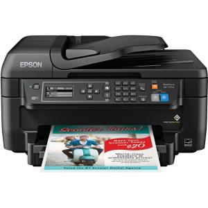 Epson WorkForce WF-2750 Inkjet Multifunction Printer - Color - Copier/Fax/Printer/Scanner - 13.7 ppm Mono/7.3 ppm Color Print - 4800 x 1200 dpi Print C11CF76201