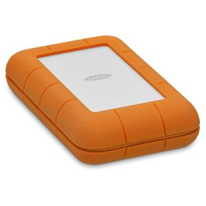 LaCie Rugged 5TB Thunderbolt / USB-C Portable Hard Drive - IP 54 Rated Enclosure - Drop-Resistant Up to 6.5' - Shock, Dust, & Water Resistant - AES-256 Hardware Encryption - Bus-Powered (STFS5000800)