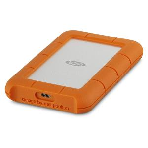 LaCie Rugged 2TB USB 3.0 Type-C Portable External Hard Drive - Up to 130 MB/s Data Transfer Speed - Bus-powered - with 2 years Rescue Data Recovery Service Plan (STFR2000800)
