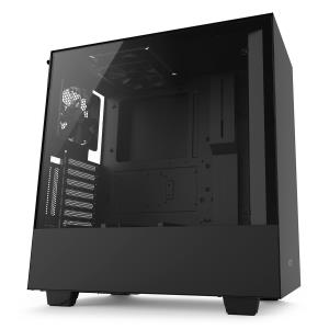 NZXT H500i ATX Mid Tower Computer Case - Tempered Glass Panel - 2x Aer F120 120mm Fans - 2x RGB LED Strips - 2x USB 3.1 Gen1 - CAM-powered Smart Device - Adaptive Noise Reduction - Vertical GPU Mount