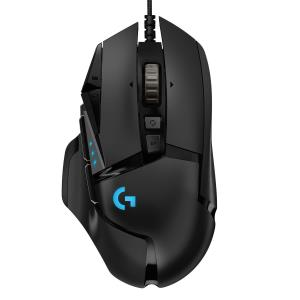Logitech G502 HERO High Performance Gaming Mouse - 16000 DPI Sensor - Mechanical Switches - Customizable RGB Lighting - 11 Progammable Buttons & Onboard Memory - Adjustable Weight (910-005469)