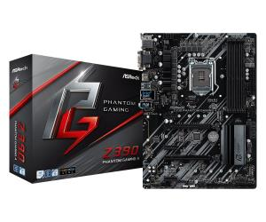 ASRock Z390 Phantom Gaming 4 ATX Motherboard - Socket LGA 1151 - Intel Z390 Chipset - Support DDR4-4300+(OC) - 2x PCIe 3.0 x16 - 3x PCIe 3.0 x1 - CrossFireX Ready - 2x M.2 Socket3 - USB 3.1 Gen2 Type