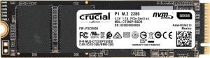 Crucial P1 500GB 3D NAND NVMe PCIe M.2 Type 2280 Internal Solid State Drive - NVMe/PCIe Gen3 x4 - Read up to 1,900 MB/s - Write up to 950 MB/s (CT500P1SSD8)
