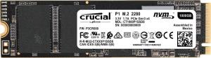 Crucial P1 1TB 3D NAND NVMe PCIe M.2 Type 2280 Internal Solid State Drive - NVMe/PCIe Gen3 x4 - Read up to 2,000 MB/s - Write up to 1,700 MB/s (CT1000P1SSD8)