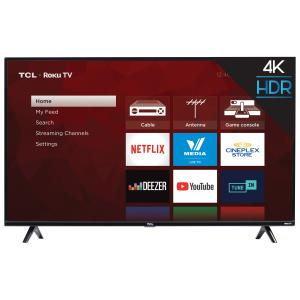 "TCL 4-Series 50"" 4K UHD HDR LED Roku OS Smart TV (50S425-CA)"