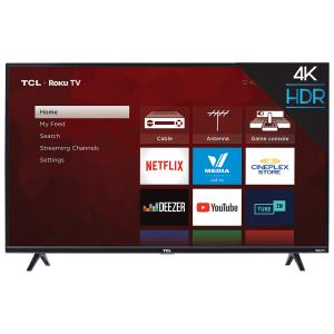 "TCL 4-Series 43"" 4K UHD HDR LED Roku OS Smart TV (43S425-CA)"