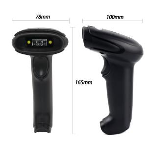 Wireless Bluetooth Barcode Scanner, Symcode USB Handheld CCD Cordless Barcode Scanner with USB Receiver Support Storing Codes MJ-6709CB-B-CA