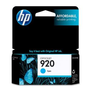 HP 920 Ink Cartridge - Cyan - Inkjet - Standard Yield - 300 Pages - 1 / Pack CH634AN#140