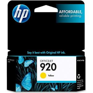 HP 920 Ink Cartridge - Yellow - Inkjet - 300 Pages - 1 / Pack CH636AN#140