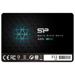 Disque SSD interne SATA III A55 512 Go Ace de Silicon Power (SP512GBSS3A55S25CA)