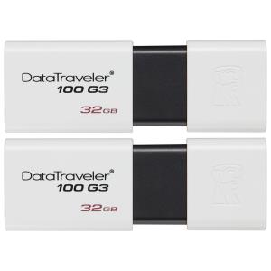 Kingston DataTraveler G3 32GB USB 3.1 Flash Drive - 2-Pack DataTraveler 100 G3