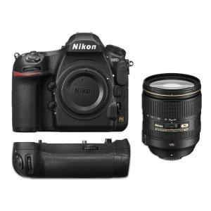 Nikon D850 Camera Body with Nikon 24-120mm f4 G ED VR AF-S Lens and Battery Grip MB-D18 Package 33722