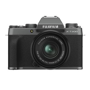 Fujifilm X-T200 Mirrorless Camera with 15-45mm OIS PZ Lens Kit - Dark Silver