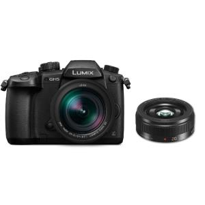 Panasonic GH5 with 12-60mm Leica Lens and Panasonic 20mm f1.7 II ASPH LUMIX G Lens Package DCGH5LK