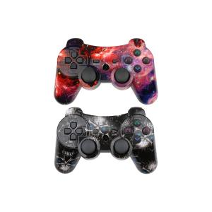 CHENGDAO PS3 Controller 2 Pack Wireless Dual Shock Gamepad for Sony Playstation 3 with Charging Cord (Skull + Galaxy) 66365634