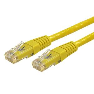 StarTech C6PATCH15YL 15 ft. Cat 6 Yellow Molded Category 6 Patch Cable - ETL Verified - Retail