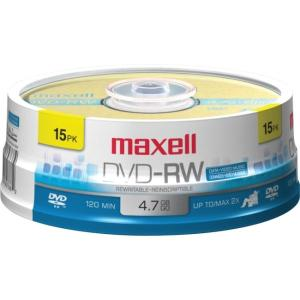 maxell 4.7GB 4X DVD-RW 15 Packs Disc Model 635117 - Retail