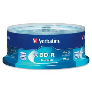 Verbatim BD-R 25GB 6X with Branded Surface - 25pk Spindle Box - 25GB - 25pk Spindle 97457