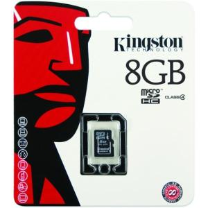 Kingston 8GB microSDHC Class 4 Flash Card w/o Adapter Model SDC4/8GBSP