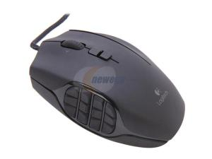 Logitech G600 MMO Gaming Mouse 910-002871 White 20 Buttons Tilt Wheel USB Wired Laser Mouse