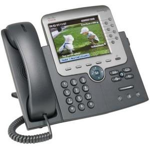 Cisco Unified 7975G IP Phone - Dark Gray, Silver - 8 x Total Line - VoIP - 2 x Network (RJ-45) - Color - SIP Protocol(s) CP-7975G=