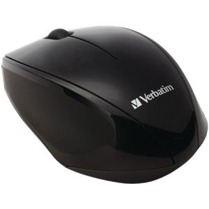 Verbatim Wireless Multi-Trac Blue LED Optical Mouse - Black - Blue Optical - Wireless - Radio Frequency - Black - USB 2.0 - Scroll Wheel - 2 Button(s) 97992