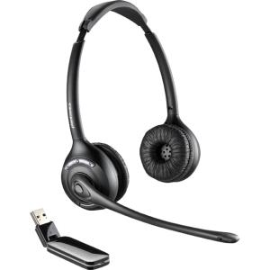 Plantronics W410-M Over-the-head, Monaural (Microsoft) - Mono - Wireless - DECT - 300 ft - Over-the-head - Monaural - Supra-aural - Noise Cancelling Microphone 84007-01