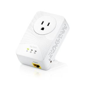 Zyxel 500 Mbps Mini Powerline Pass-Thru Ethernet Adapter