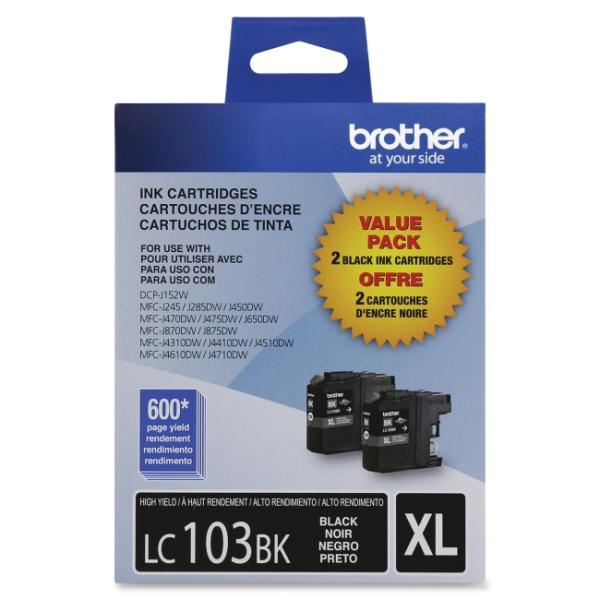 Brother Innobella LC1032PKS Ink Cartridge - Black - Inkjet - 600 Page - 2 / Pack