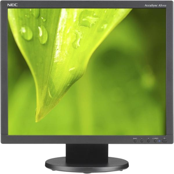 "NEC Display AccuSync AS193I-BK 19"" LED LCD Monitor - 5:4 - 14 ms - Adjustable Display Angle - 1280 x 1024 - 16.7 Million Colors - 250 cd/m² - 1,000:1 - DVI - VGA - Black - ENERGY STAR 6.0, TCO Certif"