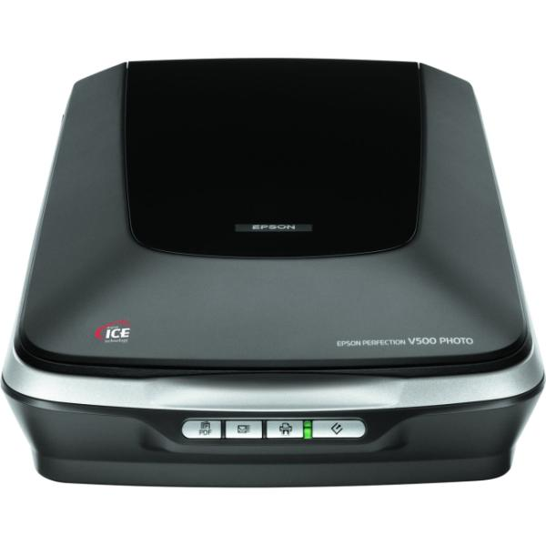 Epson Perfection V500 Flatbed Scanner - 48-bit Color - 16-bit Grayscale - USB