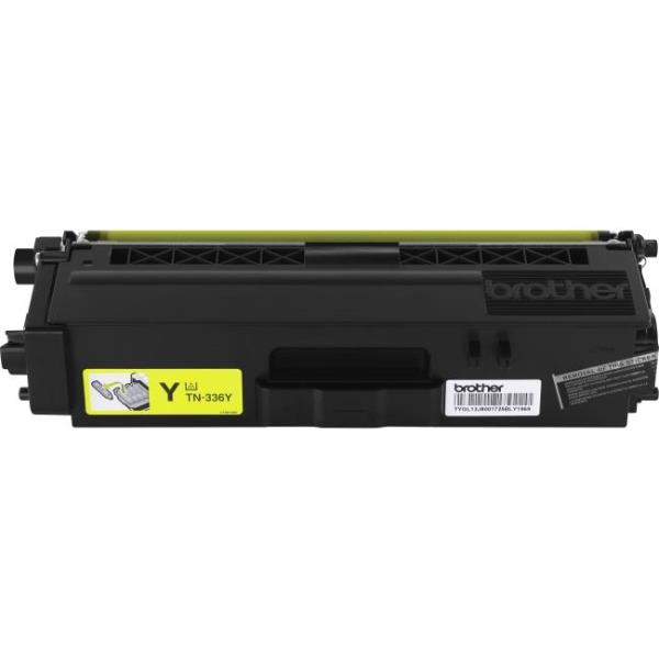 Brother TN336Y - High Yield - yellow - original - toner cartridge - for HL-L8250CDN, L8350CDW, L8350CDWT