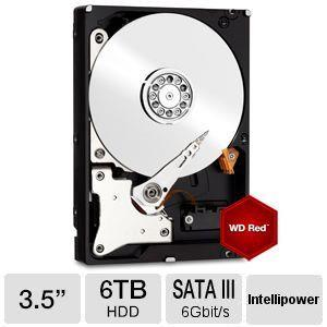 WD Red 6TB NAS Sata 3.5 Hard Drive WD60EFRX