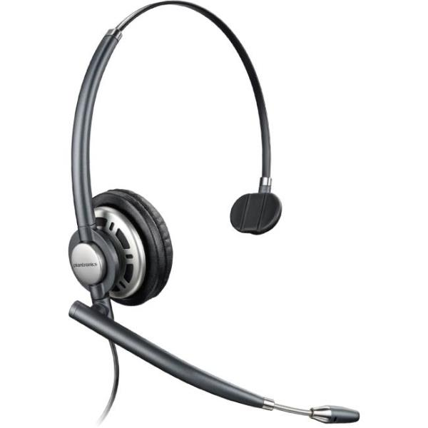 Plantronics Customer Service Headset - Mono - Quick Disconnect - Wired - Over-the-head - Monaural - Circumaural - Noise Cancelling Microphone 78712-101