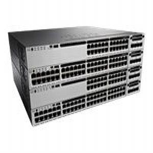 Cisco 3850-48U Layer 3 Switch - 48 Ports - Manageable - Stack Port - 10/100/1000Base-T - Rack-mountable WS-C3850-48U-S