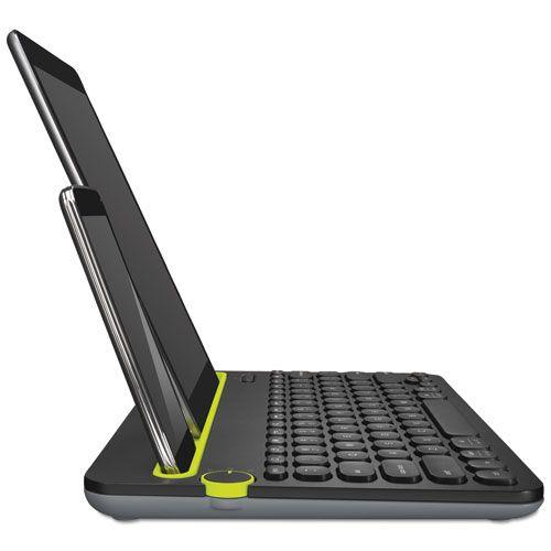 K480 Bluetooth Multi-Device Keyboard , Black - Brown box Bluetooth Keyboard K480