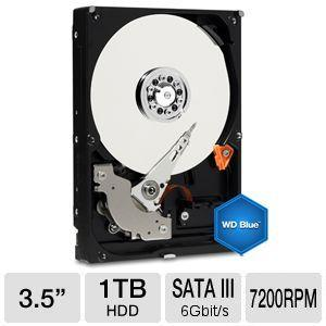 WD Blue 1TB Sata 3.5 Desktop Hard Drive Bundle WD10EZEX BUNDLE