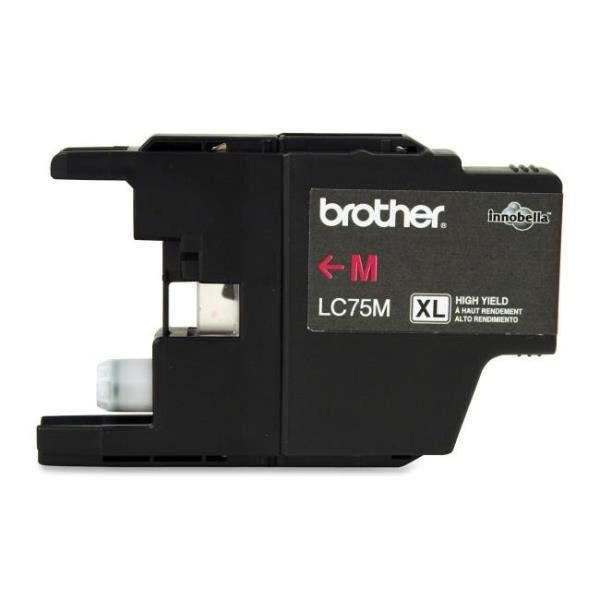 Brother LC75MS Original Ink Cartridge - Inkjet - 600 Pages - Magenta - 1 Each