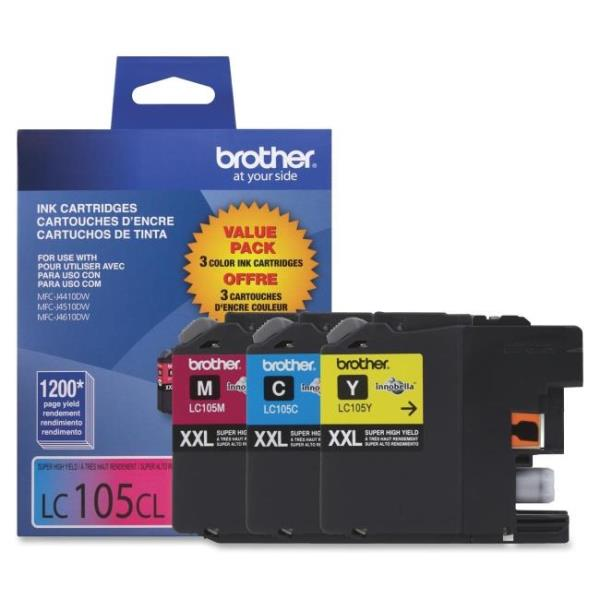 Brother Innobella LC1053PKS Tri-pack Ink Cartridge - Cyan, Magenta, Yellow - Inkjet - 1200 Page Cyan, 1200 Page Magenta, 1200 Page Yellow - 3 / Pack